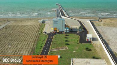 Sumqayıt İES-də estakadanın və nasos stansiyasının tikintisi tamamlandı